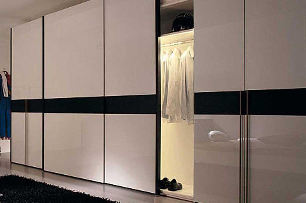 مدل کمد دیواری ریلی مدرن دو رنگ