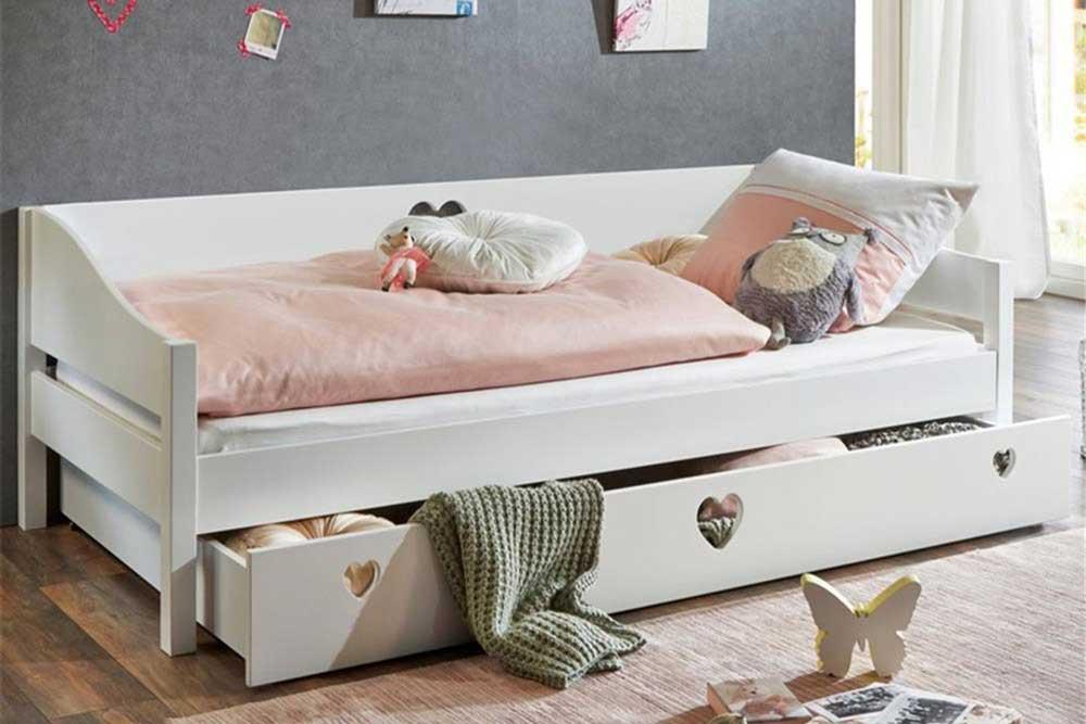 تخت خواب چوبی کشودار