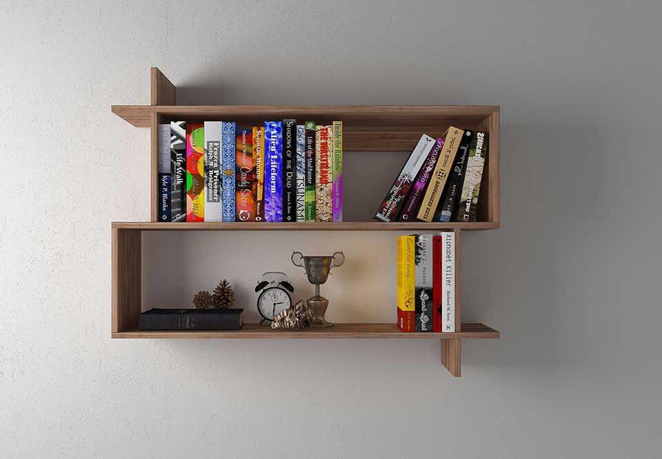 کتابخانه دیواری کوچک: زیبایی دانشتان را به رخ بکشید.