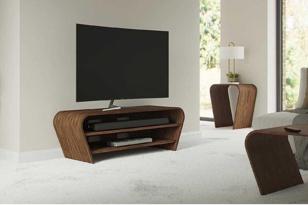 سبک میز تلویزیون چوبی