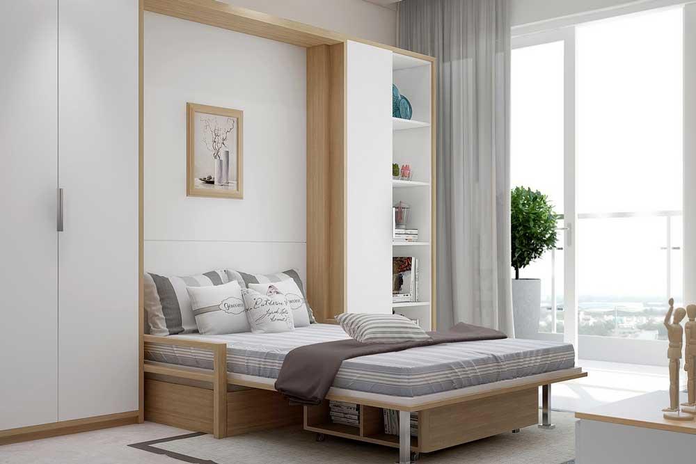 مدل تخت خواب دو نفره تاشو