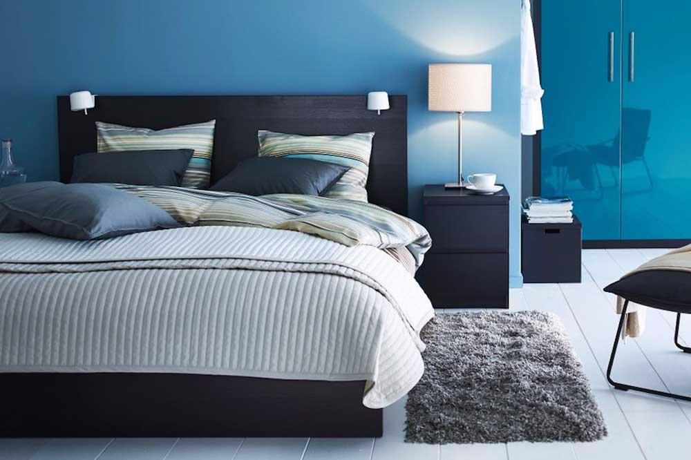 مدل تخت خواب دو نفره تیره رنگ