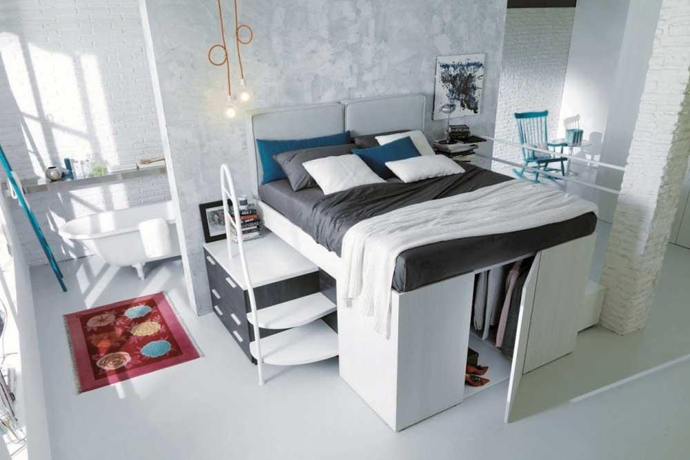 تخت کمجا با فضای ذخیره سازی داخلی