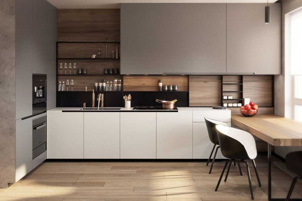 آشپزخانه جدید با مدل باز