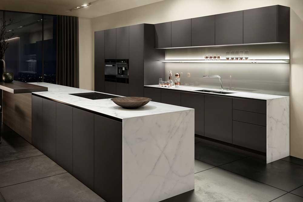 آشپزخانه جدید با کابینت بدون دستگیره