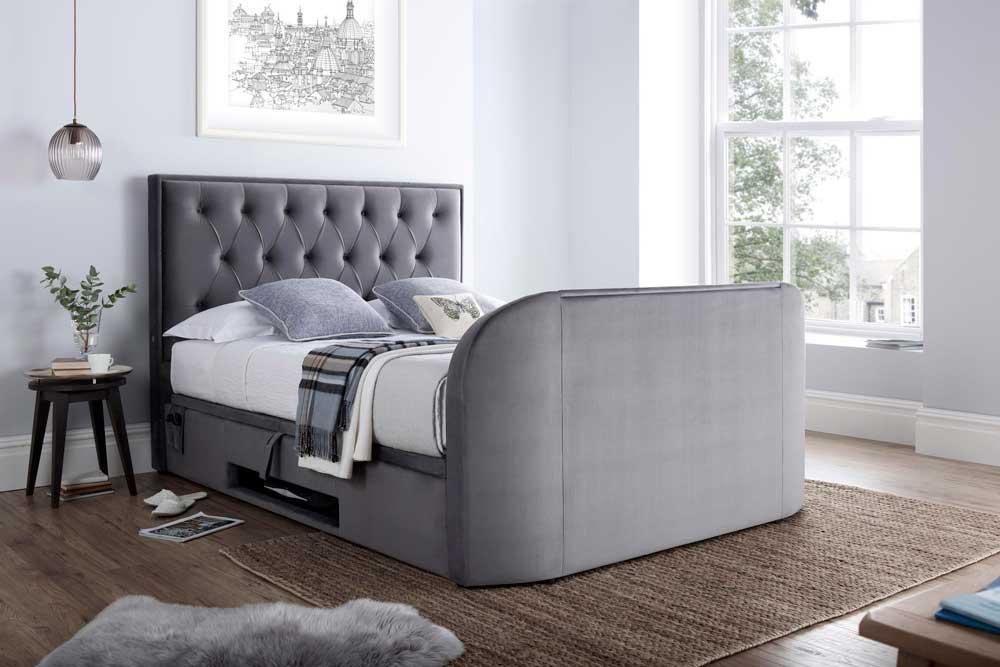مدل تخت خواب دو نفره پارچه ای
