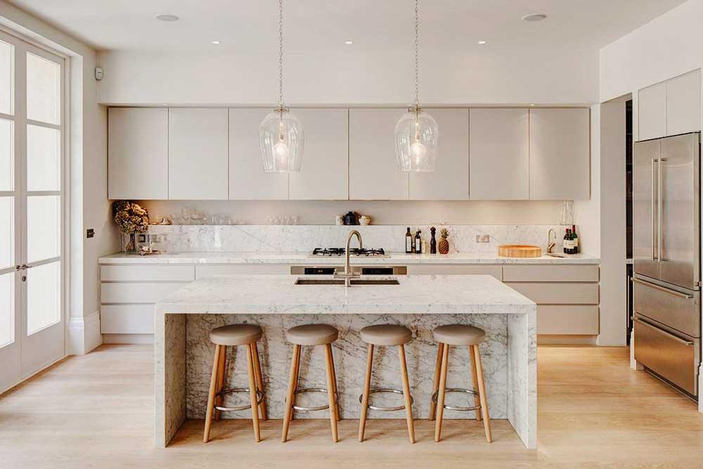 آشپزخانه جدید با مرمر