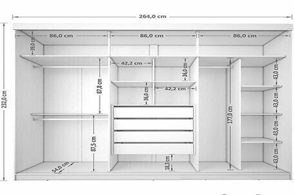 طول استاندارد کمد دیواری
