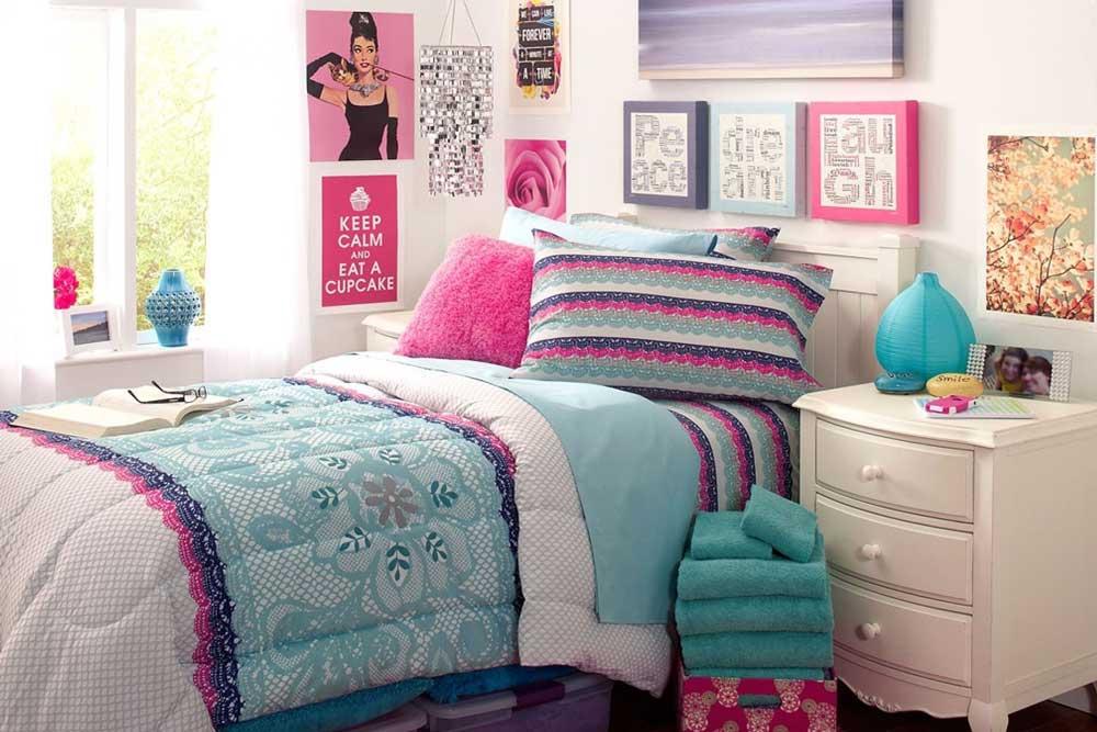 دکوراسیون اتاق خواب دخترانه نوجوان : رنگ بندی
