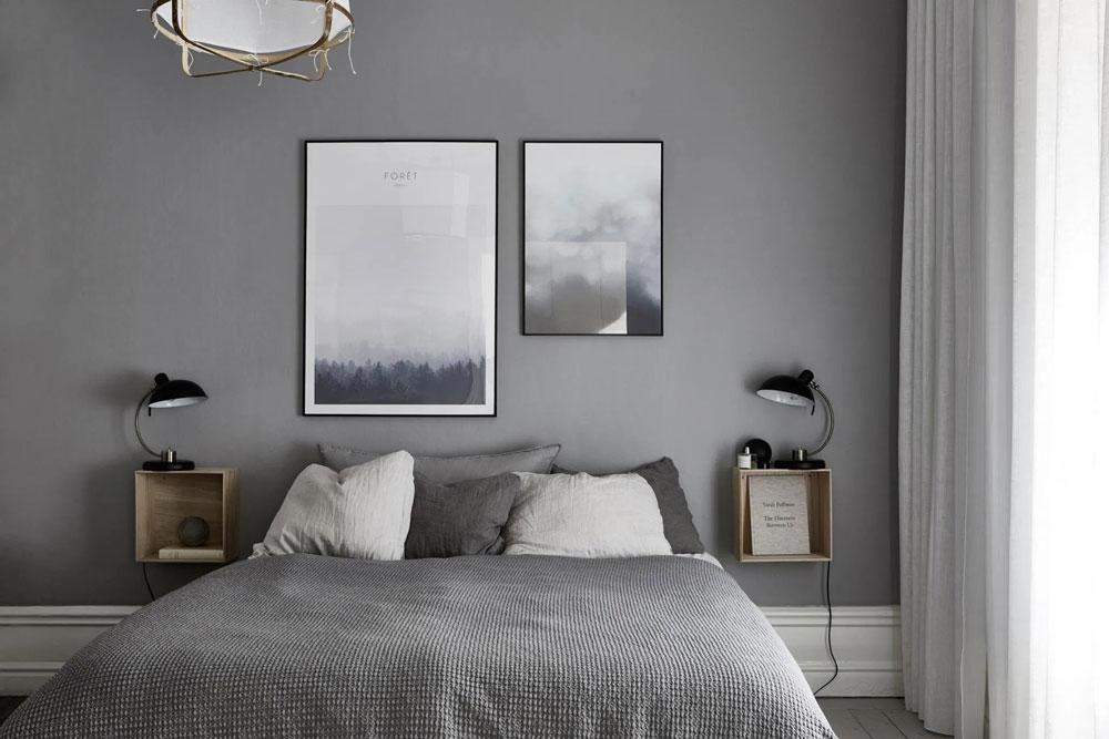 رنگ اتاق خواب نقره ای