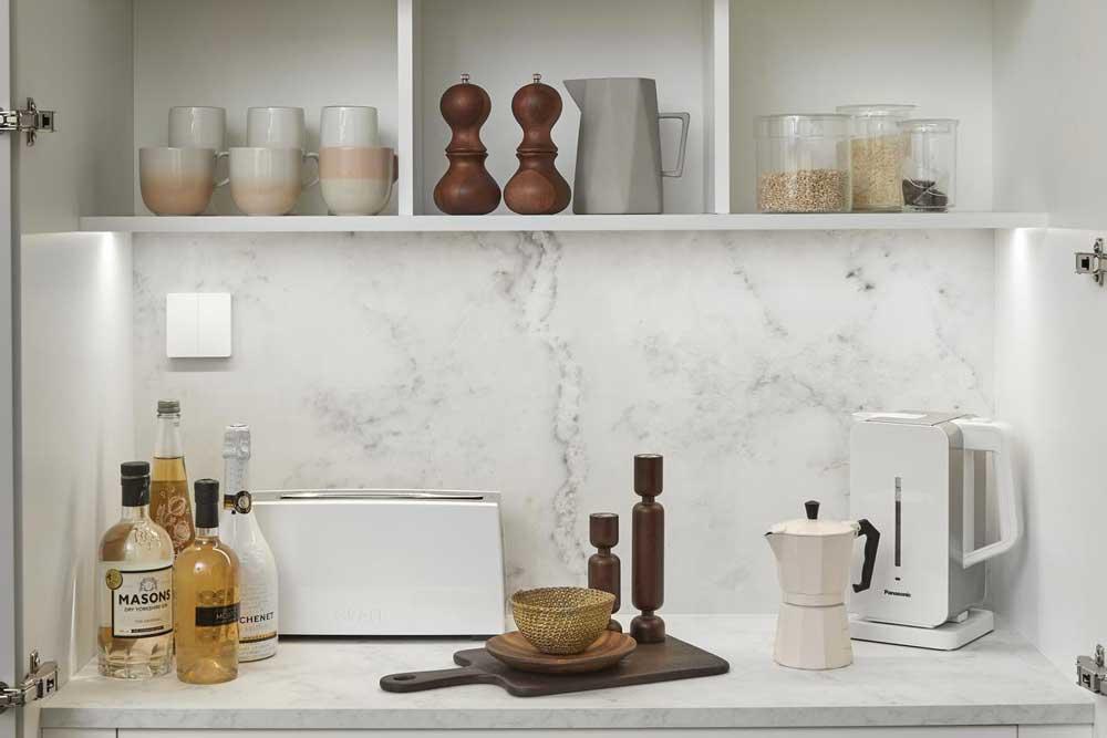 قفسه بندی داخل کابینت آشپزخانه : باکس دار