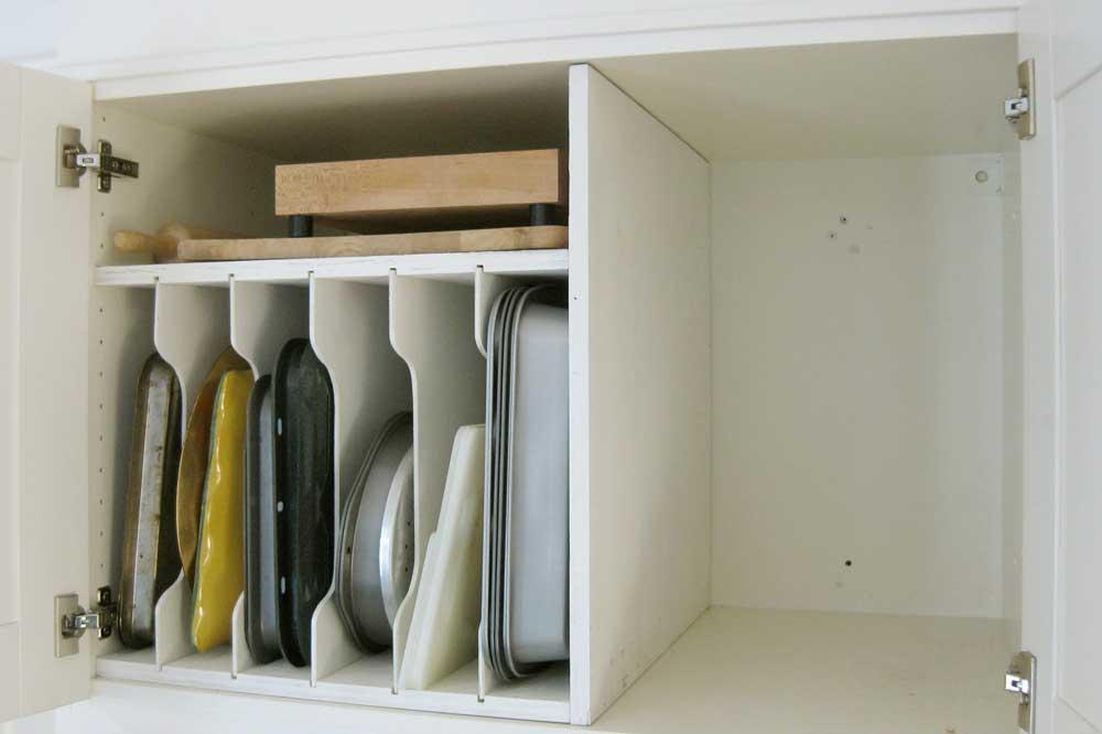 قفسه بندی داخل کابینت آشپزخانه : مخصوص سینی