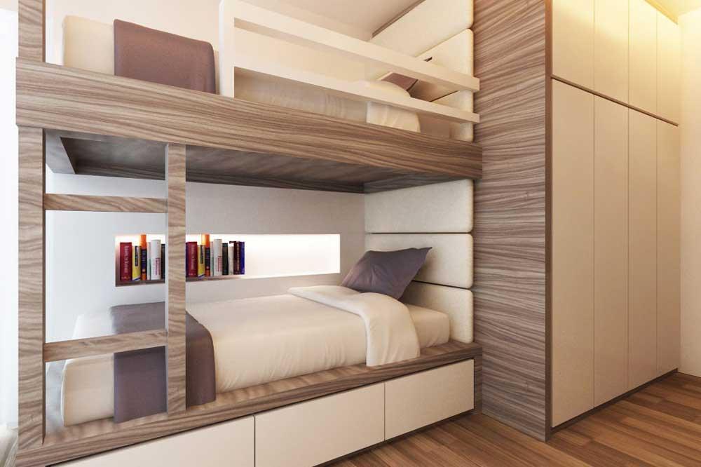 مدل تخت دو طبقه ام دی اف مدرن