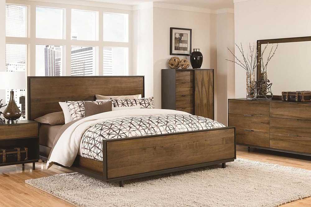 مدل سرویس خواب ام دی اف طرح چوب