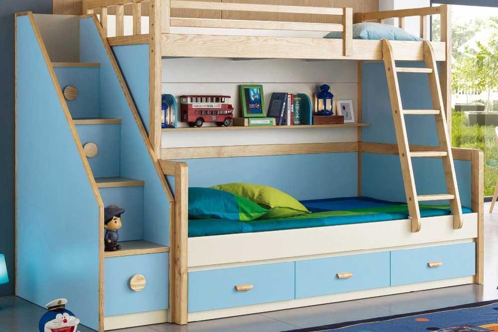 مدل تخت دو طبقه ام دی اف پسرانه