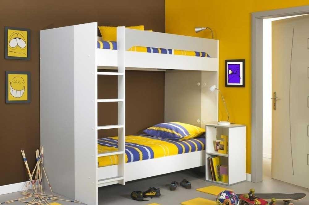مدل تخت دو طبقه ام دی اف سفید