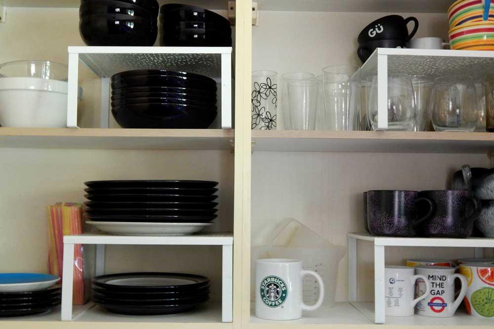 قفسه بندی داخل کابینت آشپزخانه : پایه دار