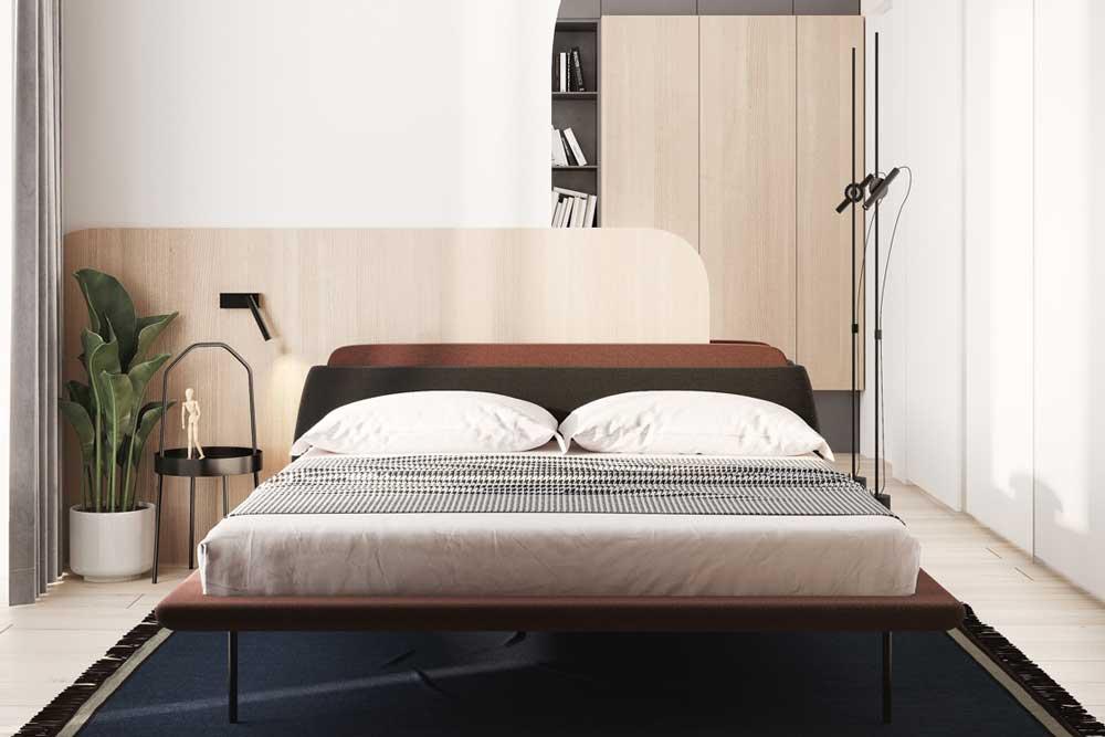 تخت خواب دو نفره مدرن پایه دار