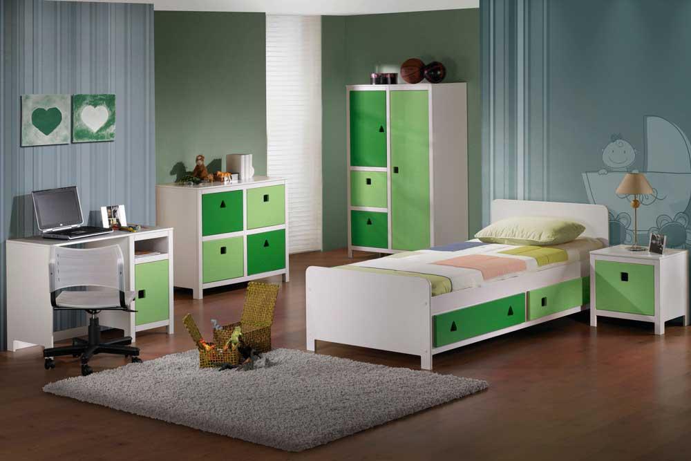 مدل جدید تخت نوجوان پسرانه سبز