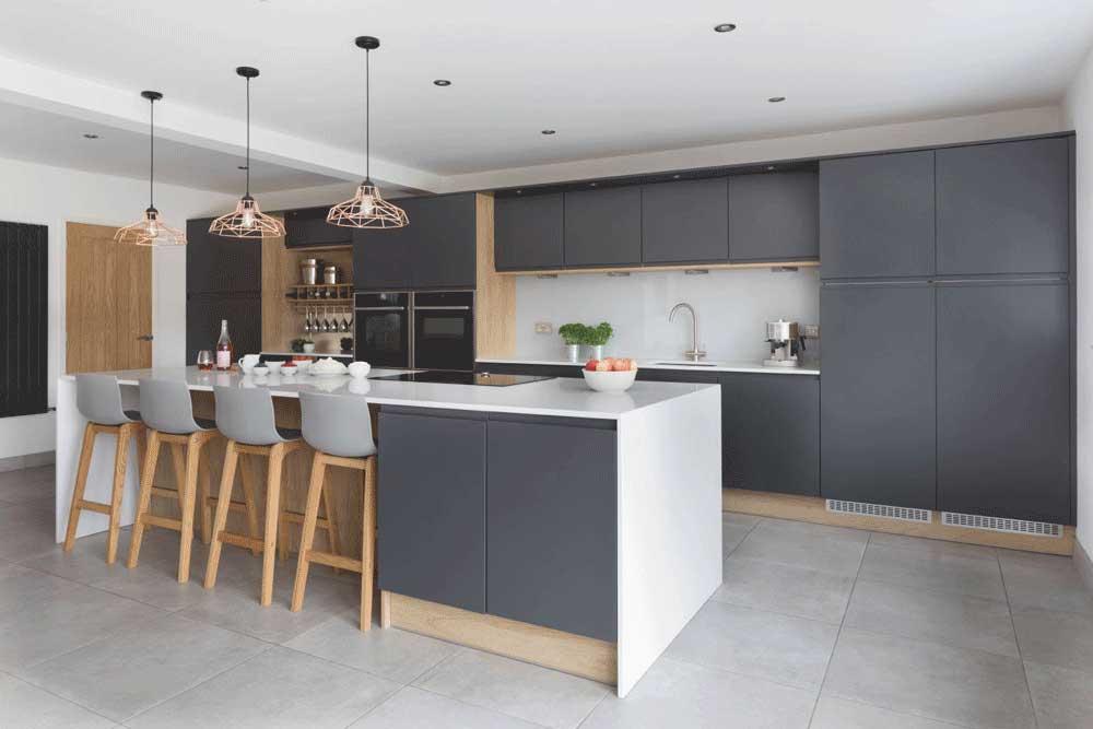 طرح های کابینت آشپزخانه mdf : جزیره یا کانتر
