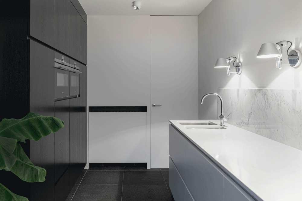 طرح های کابینت آشپزخانه mdf : عدم استفاده از فلز