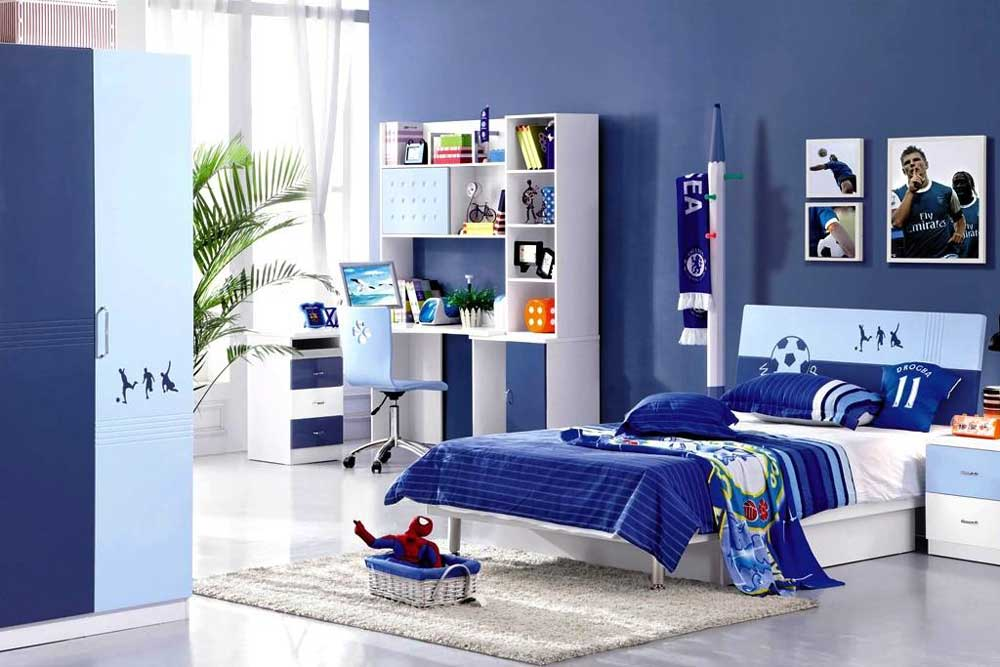 مدل جدید تخت نوجوان پسرانه آبی