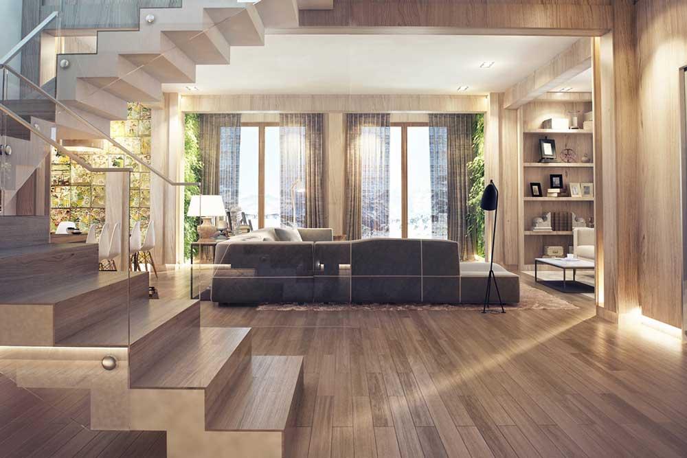 انواع دکوراسیون داخلی منزل با چوب