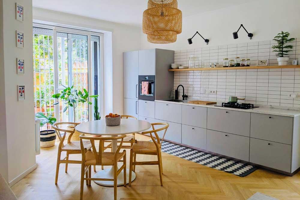 دکوراسیون داخلی آپارتمان کوچک : آشپزخانه باز