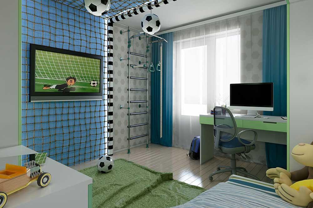 تخت و کمد کودک پسرانه فوتبالی