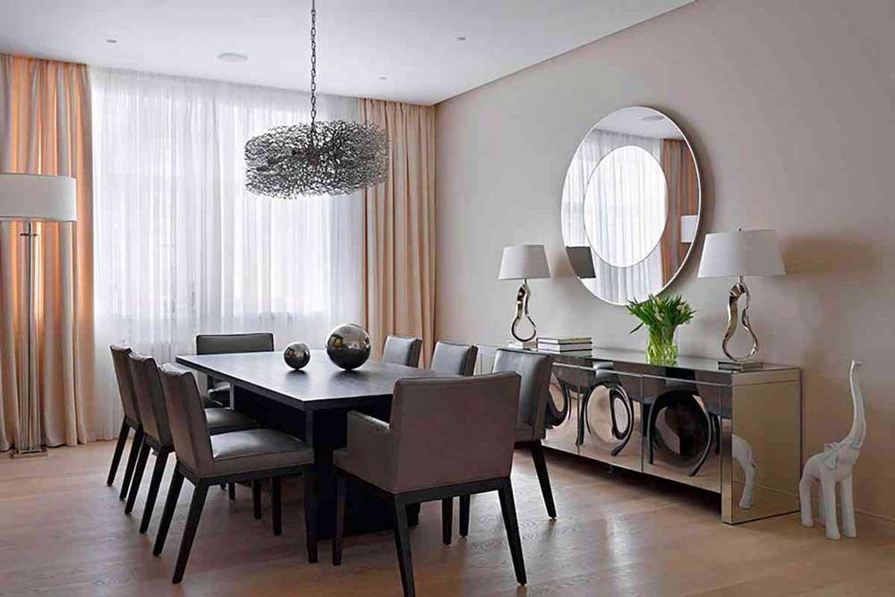 دکوراسیون داخلی آپارتمان کوچک : آینه