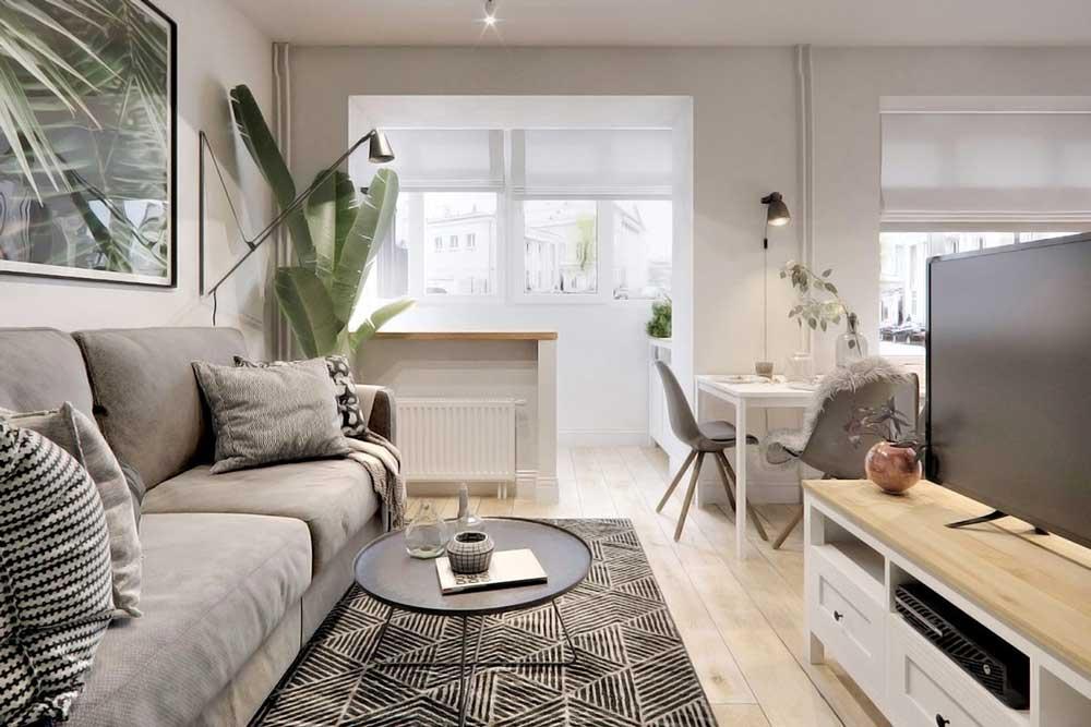 دکوراسیون داخلی آپارتمان کوچک : دیوارهای سفید