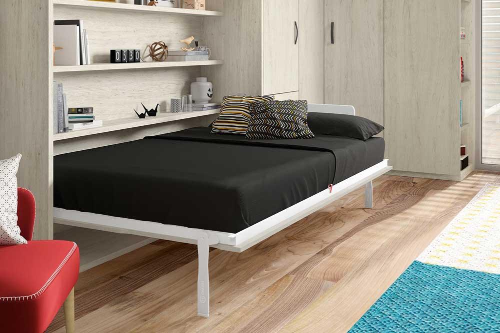 دکوراسیون داخلی آپارتمان کوچک : تخت تاشو