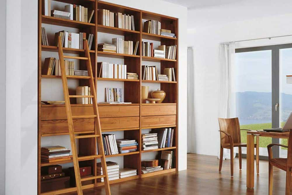 کتابخانه چوبی کلاسیک دیواری