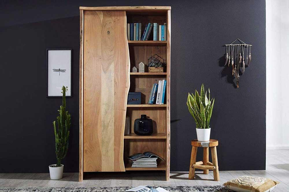 کتابخانه چوبی کلاسیک خلاقانه
