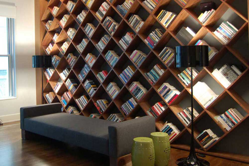 کتابخانه چوبی کلاسیک لوزوی