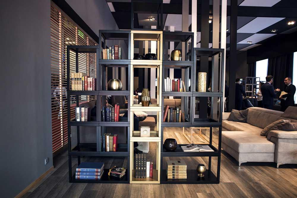 کتابخانه چوبی مدرن : به عنوان تقسیم کننده فضا