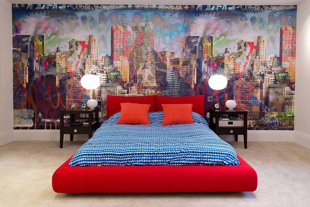 برچسب دیواری در دکوراسیون اتاق خواب نوجوان پسر