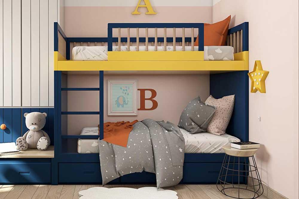 رنگ زرد در دکوراسیون اتاق خواب نوجوان پسر