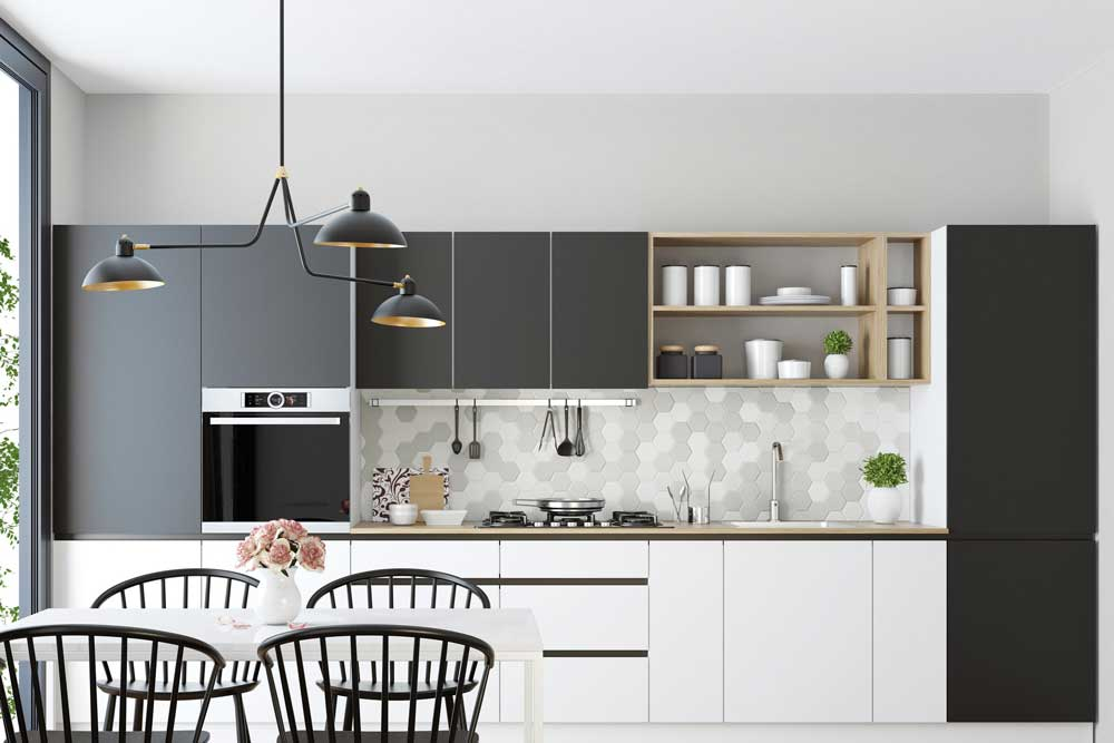 طراحی کابینت آشپزخانه کوچک : جنس مناسب