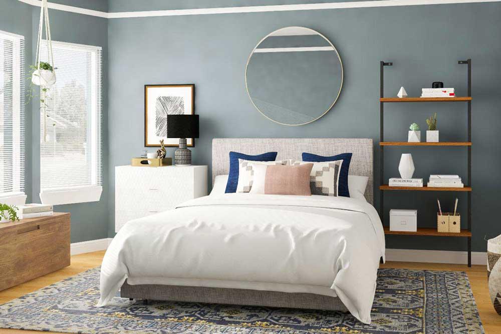 رنگ های خنثی در دکوراسیون اتاق خواب ساده و شیک