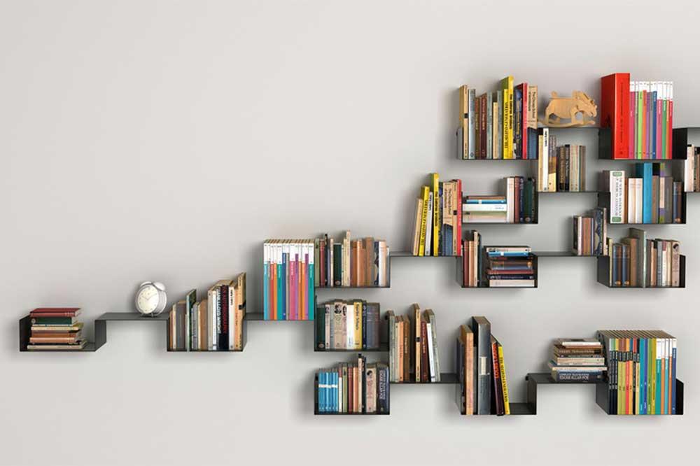 کتابخانه دیواری MDF